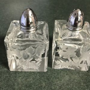 Other - Glass and silver salt and pepper shakers